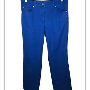 Escada Pants Stretch Khaki Pants Strt Leg 36 S 4-6